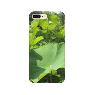 蓮の葉 Smartphone cases