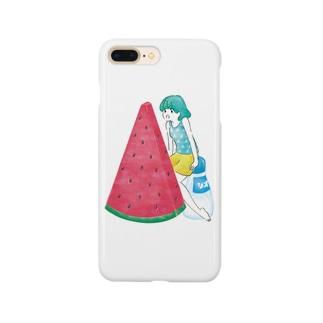 スイカガール Smartphone cases