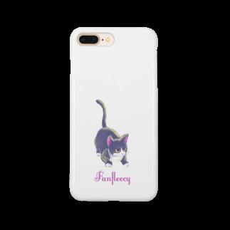 Fanfleecyのmeow meow(black cat) Smartphone cases