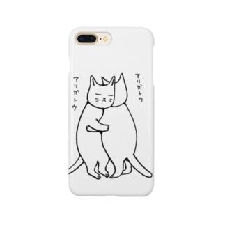 ねこハグ Smartphone cases