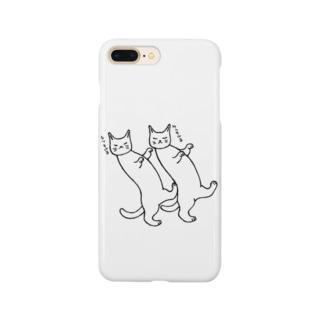 踊る猫たち Smartphone cases