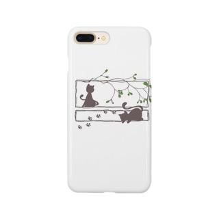 ヤドリギと猫 Smartphone cases