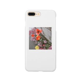 mono黒フラワー Smartphone cases