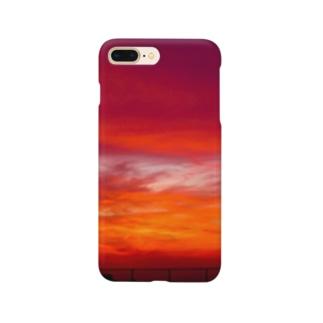 西の果ての夕焼け空 Smartphone cases