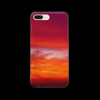 宮本商店の西の果ての夕焼け空 Smartphone cases