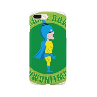 ボーリングマン かわいい エンブレム グリーンバック Smartphone cases