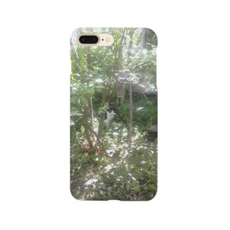 yuru-nekoのハチワレ 森猫    Smartphone cases