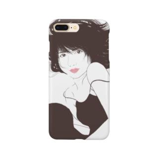 美人画ふうかちゃん Smartphone cases
