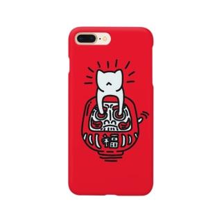 ダルマネコ Smartphone cases