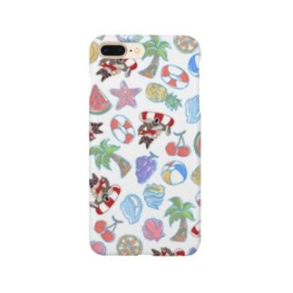 真夏のクッキー総柄シリーズ Smartphone cases