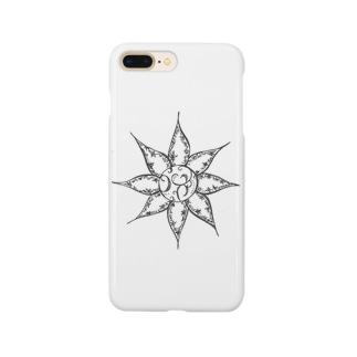 ダンデライオンWhite Smartphone cases
