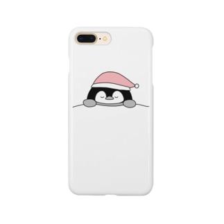 ねむねむペンギン ピンク Smartphone cases