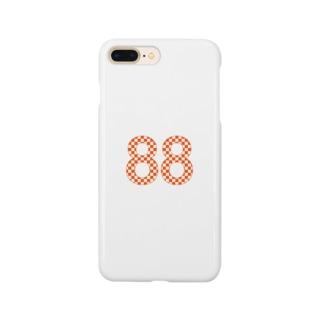 88オレンジロゴ スマートフォンケース