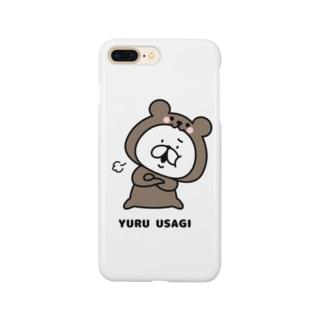 ゆるうさぎ クマった Smartphone cases