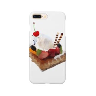 とろけるシロクマアイスデザート Smartphone cases