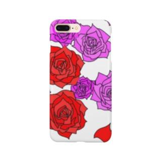 薔薇 赤とピンク Smartphone cases