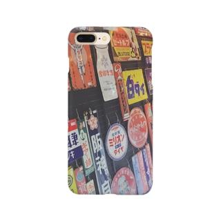 ホーロー看板モチーフ Smartphone cases