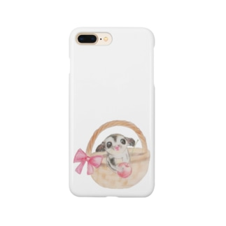 フクロモモンガとさくらんぼ Smartphone cases