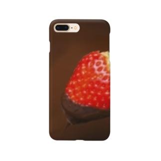 苺のチョコレートフォンデュ Smartphone cases