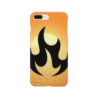 炎の夕暮れ Smartphone cases