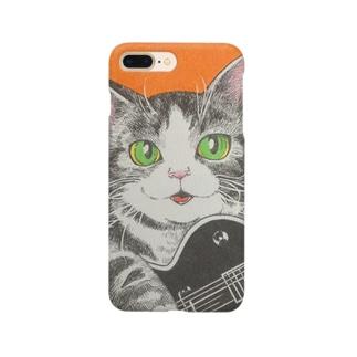 猫とギター Smartphone cases