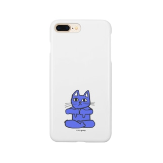 Official GOODS Shopのフレキシビリティー・ラックス・誠(2EA group カラフルニャーンコ軍団) Smartphone cases