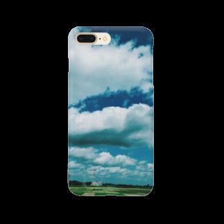 カラカラの殻の青と緑 Smartphone cases