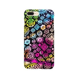 柄ガラ1 Smartphone cases