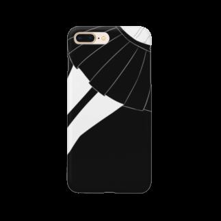 piorのスカート(モノクロ) Smartphone cases