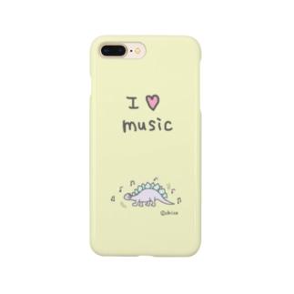 パステルな恐竜【MUSIC】 Smartphone cases
