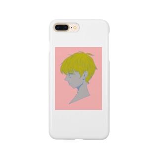 横顔男の子 Smartphone cases
