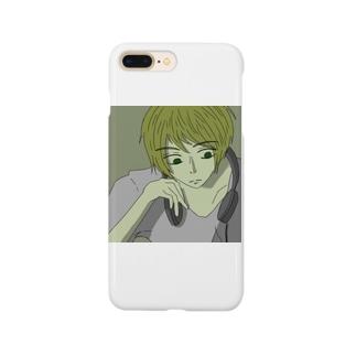 ヘッドホンの男の子 Smartphone cases