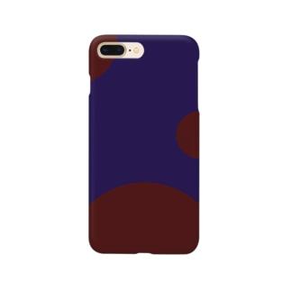 群青に飲まれる(ver.文字なし) Smartphone cases