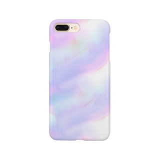 🌿のパープル Smartphone cases