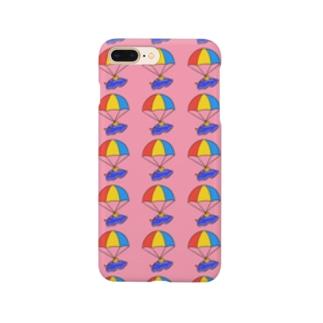 パラシュートウミウシさん ピンク Smartphone cases