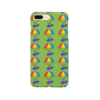 パラシュートウミウシさん グリーン Smartphone cases