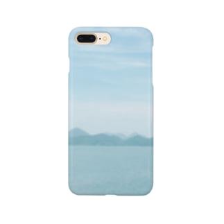窓から見える、海のいろ。 Smartphone cases