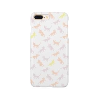 イッパイネコ 桃 Smartphone cases