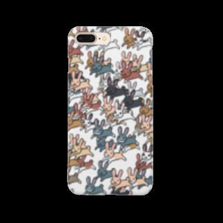 ポメ村ポメラニアンのうさぎ群 Smartphone cases