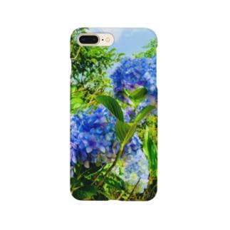 紫陽花ブルー Smartphone cases