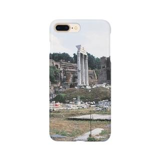 イタリア:フォロ・ロマーノのカストルとポルックス神殿が見える風景写真 Italy: view of Foro Romano (Tempio dei Dioscuri) Smartphone cases
