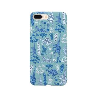 キョーリュー集合「あお」 Smartphone cases