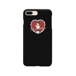 まりのとハートのスマホケース(ブラック) Smartphone cases
