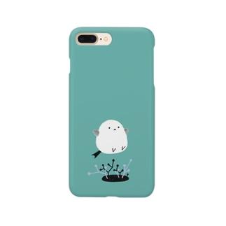 跳ねエナガ Smartphone cases