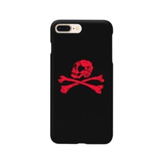 自由な海賊(赤) Smartphone cases