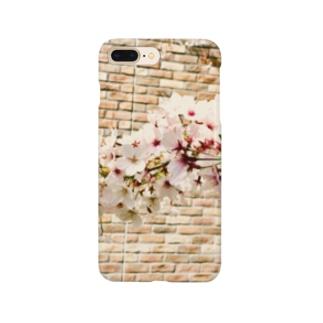 煉瓦と桜1 Smartphone cases