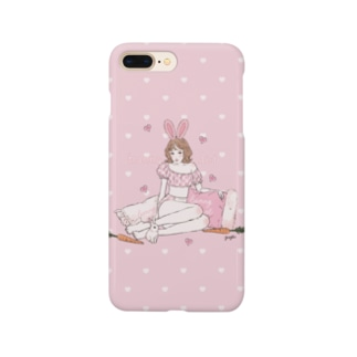 bunny girl🥕(pink) Smartphone cases