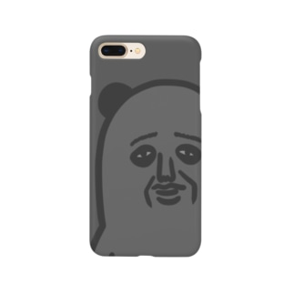 パンダおっさん(グレイ) Smartphone cases