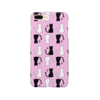 ねこ柄(ピンク) Smartphone cases