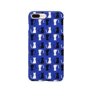 ねこ(ブルー) Smartphone cases